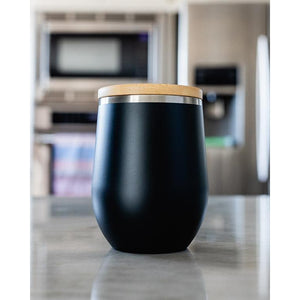Sand Cloud // 12oz Black Tumbler-Drinkware-Sand Cloud-Viso Sun Shop
