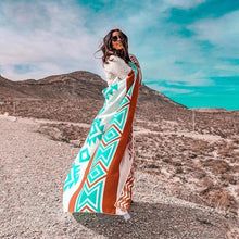 Load image into Gallery viewer, Sand Cloud // Aztec Blanket – Red & Mint-Blanket-Sand Cloud-Viso Sun Shop