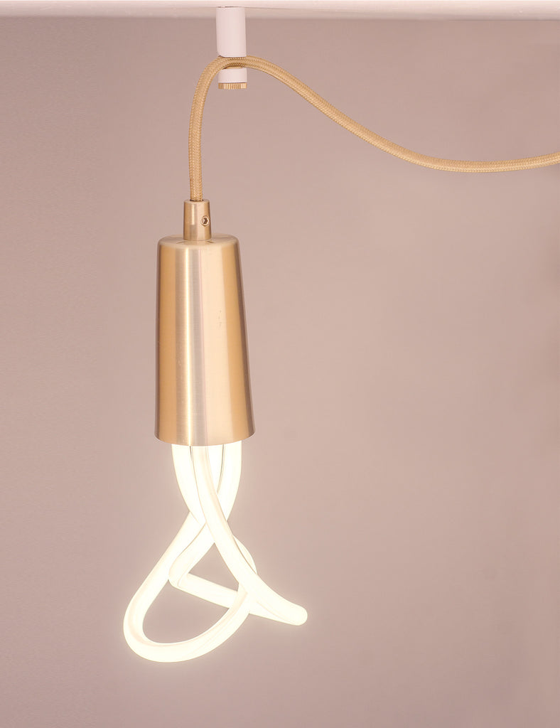 Plumen Ceiling Hook - White with Brass Screw