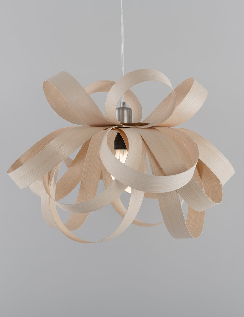 Skipper Pendant - Ash with Plumen 001 Bulb