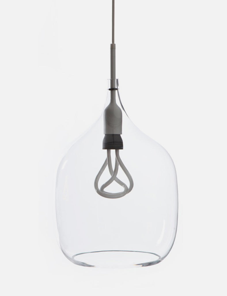 Vessel Large in Clear Glass with Plumen 001 Bulb