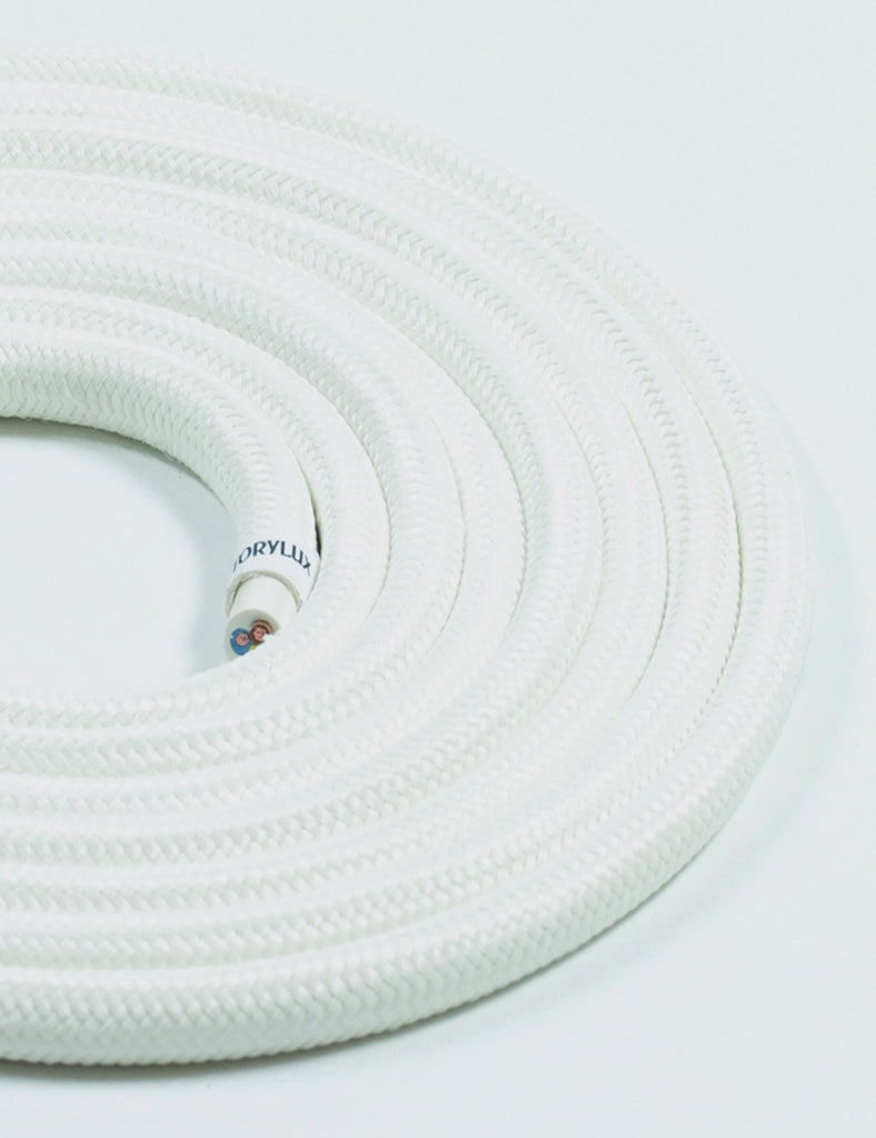Fabric Cable Antique White