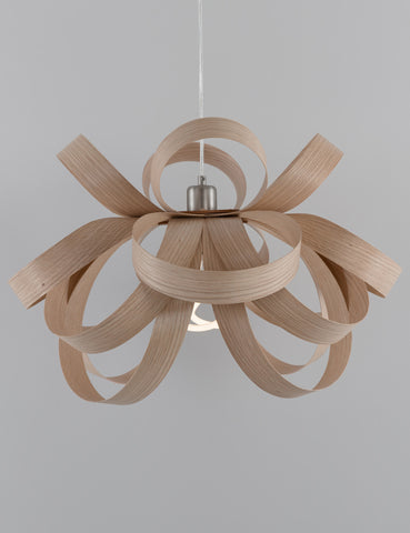 Skipper Pendant - Oak with Plumen 001 Bulb