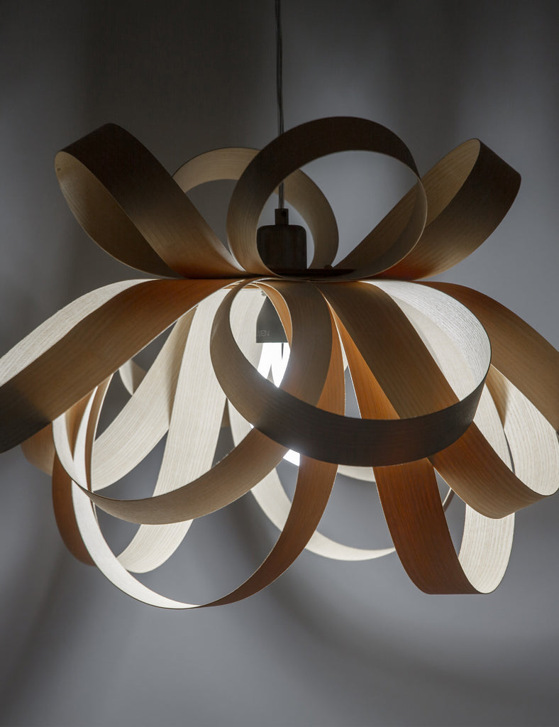 Skipper Pendant - Walnut with Plumen 001 Bulb