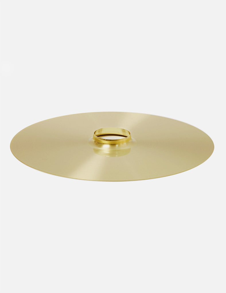 Brass drop hat lamp shade