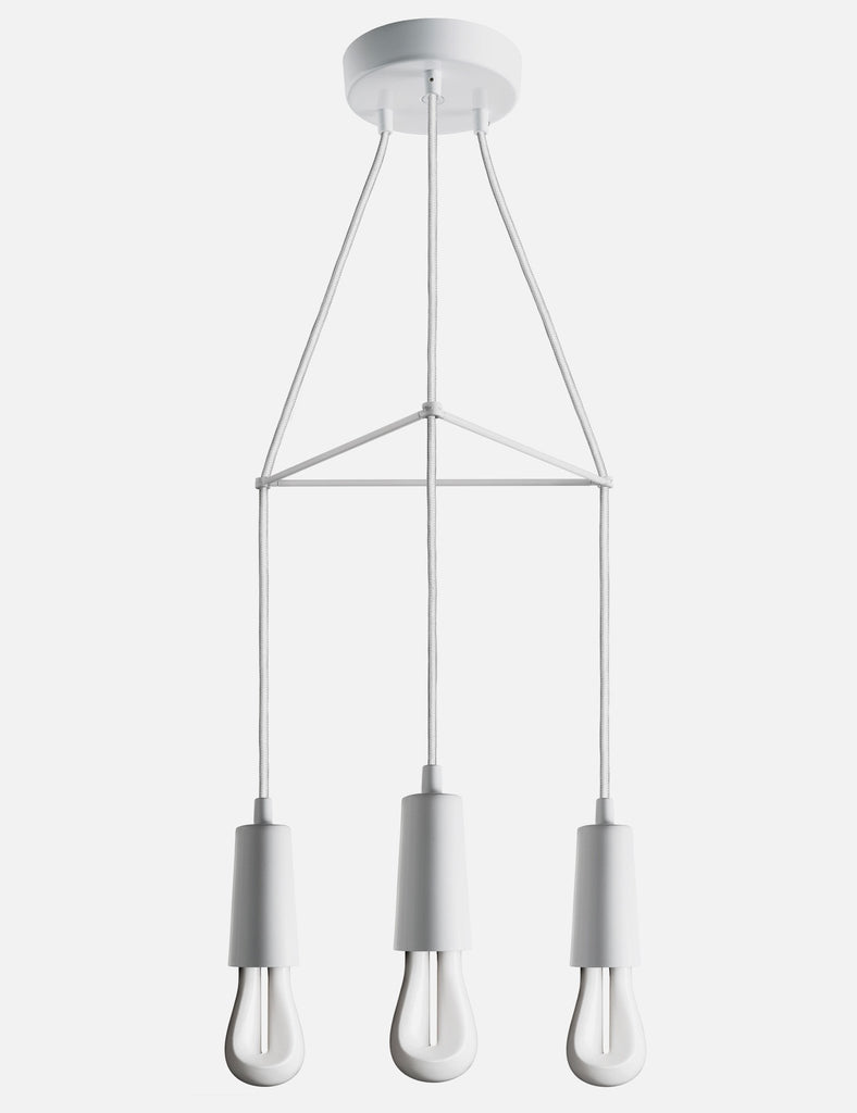 white chandelier with 3 plumen 002 bulbs