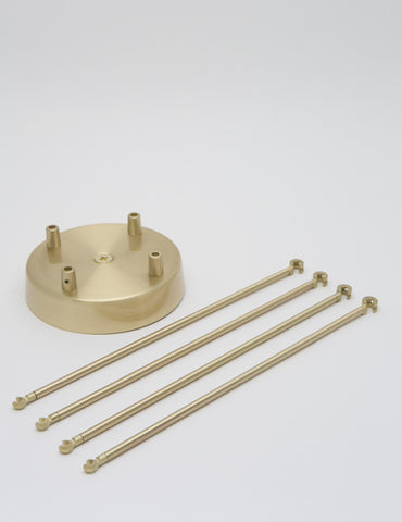4 Way Chandelier Kit Brass