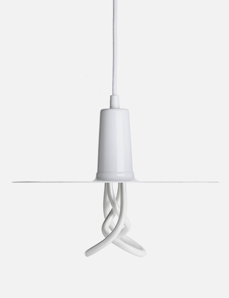 Drop Hat Lamp Shade - White