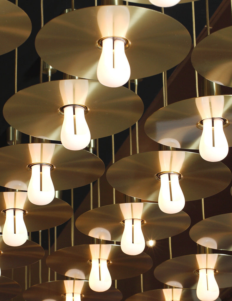 plumen drop hat lamp shades with 002 at London design festival 2015