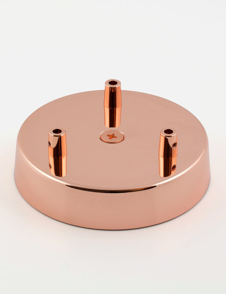 3 Way Ceiling Rose Copper