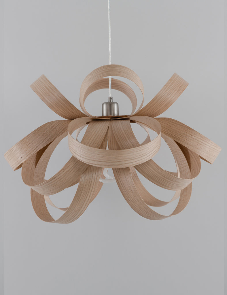 Skipper Pendant - Oak with Plumen 001 LED Bulb