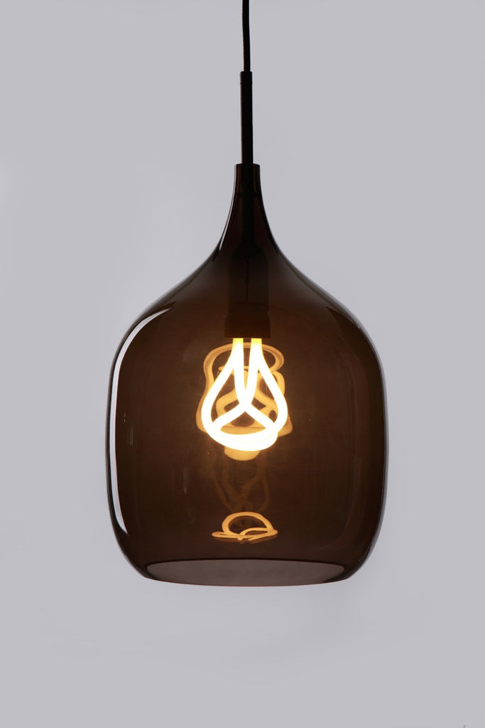 Vessel Large in Grey with Plumen 001 Bulb