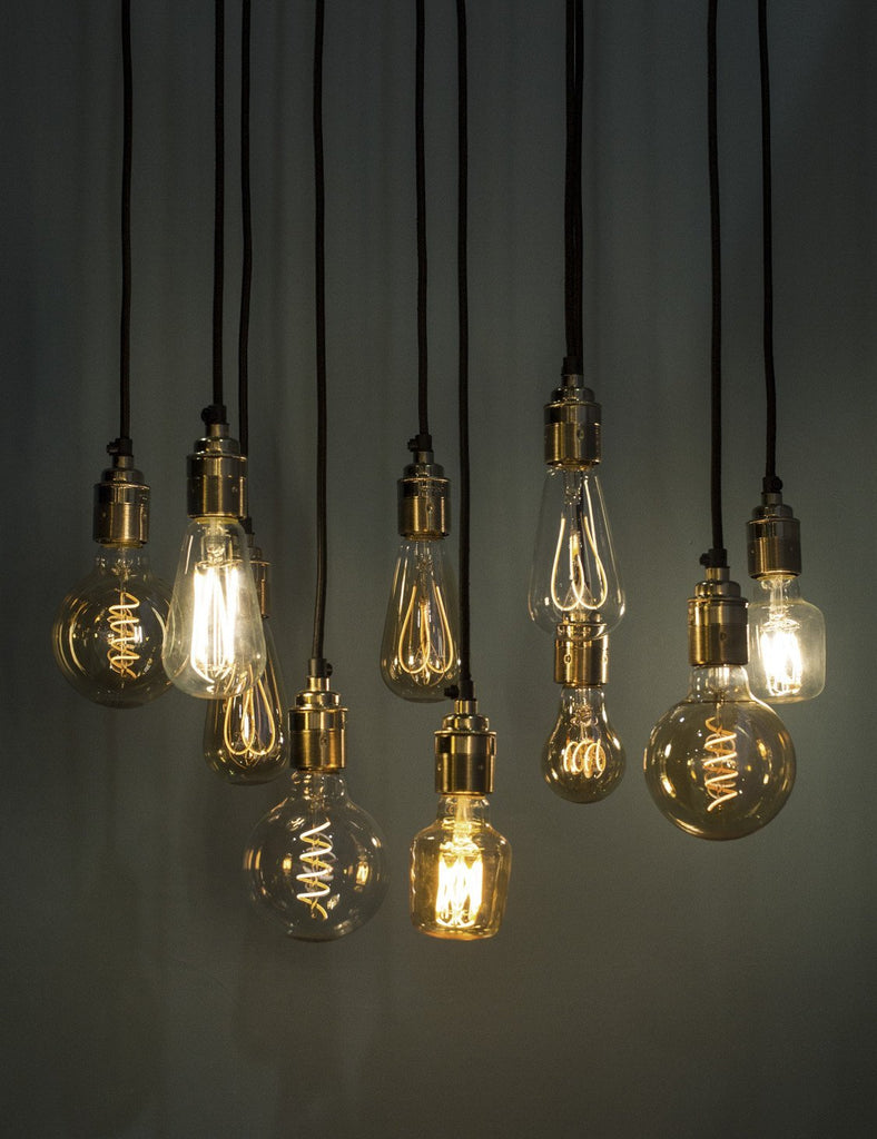 Edison style vintage WattNott Dimmable Filament LED Light bulb cluster