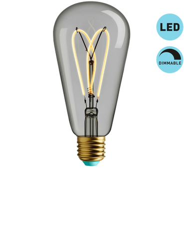 WHIRLY WILLIS - WARM WHITE LIGHT - DIMMABLE LED (CLEAR)