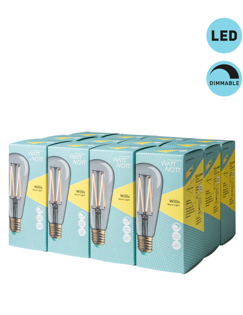 Wattnott vintage style filament LED, screw fitting, E27