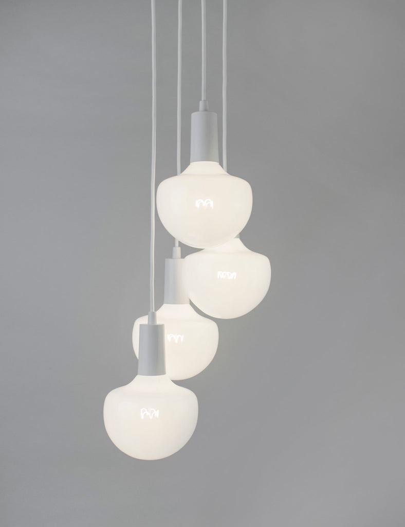 Plumen Pendant and Wilma Milky 12 Pendant Set Multipack