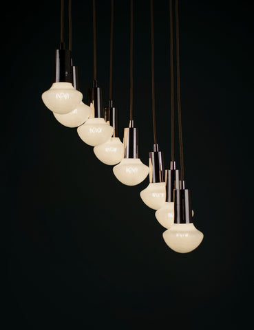 Willow Milky LED and Drop Cap Pendant