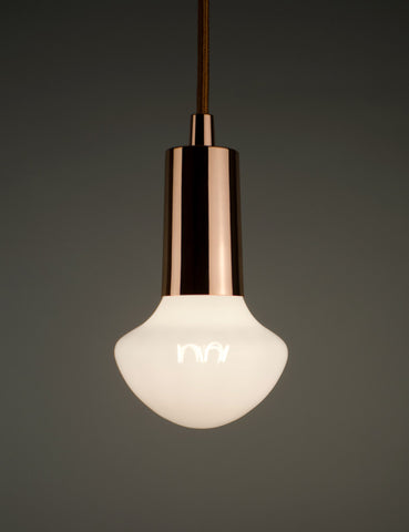 Plumen Pendant and Willow Milky Light Bulb