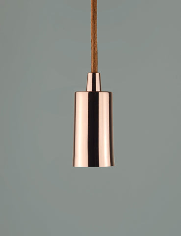 Wilbur Dimmable LED and Copper Plumen Pendant