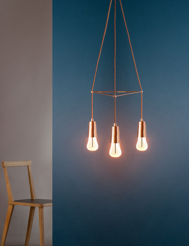 plumen 002 with chandelier copper