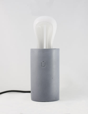 PLUM Grey Concrete Table Lamp By Unrefined