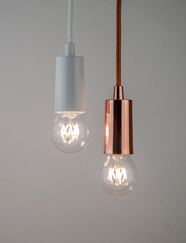 Wanda Dimmable LED and Copper Plumen Pendant