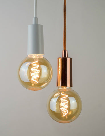 Whirly Wyatt Gold Dimmable LED and Copper Plumen Pendant