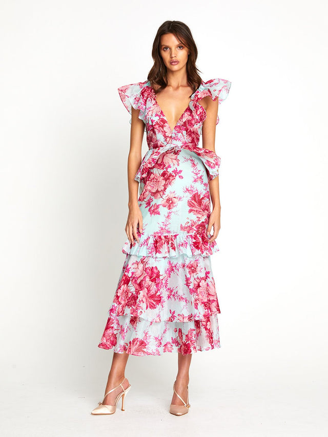 FLAMINGO MIDI DRESS
