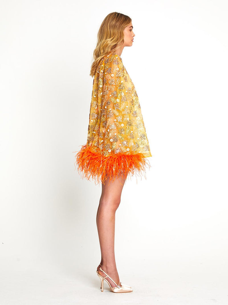 CELESTIAL FEATHER DRESS