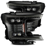 18-20 F-150 NOVA-Series LED Projector Headlights (Mid-Night Black) - Precision Retrofits