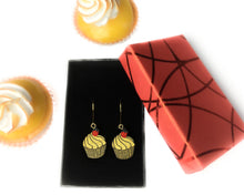 Load image into Gallery viewer, SPECIAL EDITION - Unique earrings hand painted in France - Cupcake