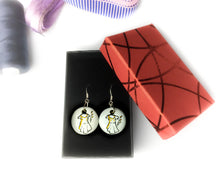 Load image into Gallery viewer, GUIPURE - Unique earrings hand-painted in France - Black Dress