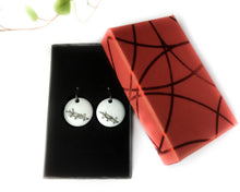 Load image into Gallery viewer, FLOCON - Unique earrings hand-painted in France - Aviation
