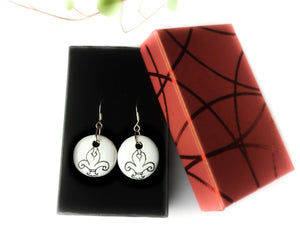 DUO - Unique earrings hand-painted in France - Castles