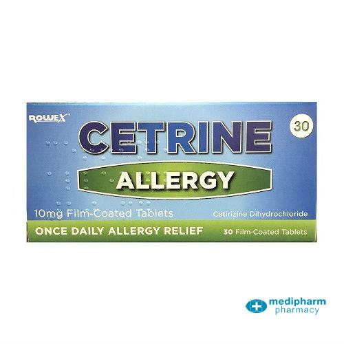 Cetrine Hayfever Allergy Relief 10mg 30 Tablets - Medipharm Online Pharmacy Dublin Ireland - medipharm.ie