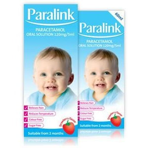 Paralink Paracetamol 120mg/5ml Oral Solution 100ml - Medipharm Online Pharmacy Dublin Ireland - medipharm.ie