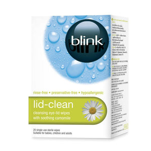 Blink Lid-Clean Cleansing Eye Lid Wipes 20 Pack