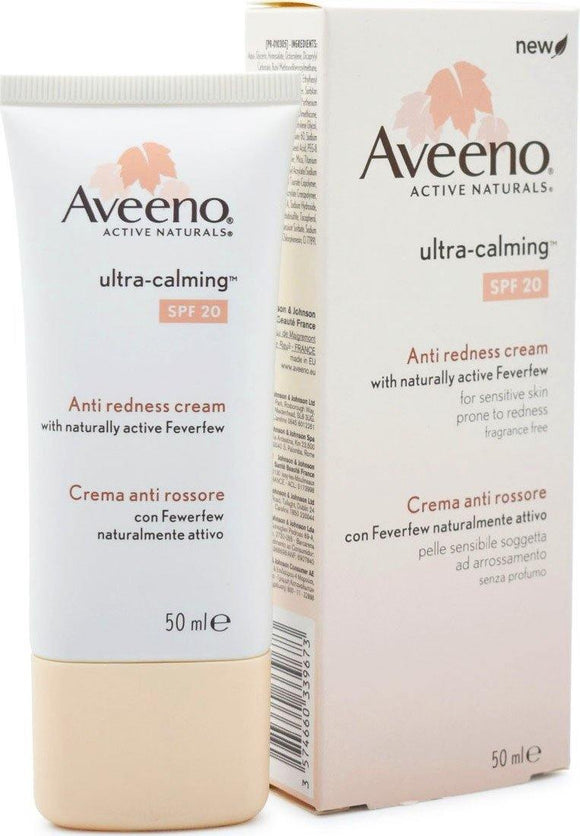 Aveeno Ultra-Calming Anti-Redness Cream SPF 20 50ml - Medipharm Online