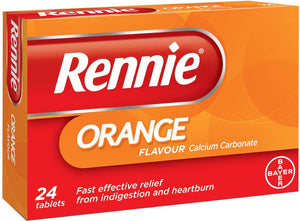 Rennie Orange chewable tablets- 24 tablets - Medipharm Online - Cheap Online Pharmacy Dublin Ireland Europe Best Price