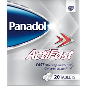 Panadol Actifast 500mg 20 Tablets - Medipharm Online Pharmacy Dublin Ireland - medipharm.ie