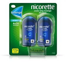 Nicorette - Cools Icy Mint 4mg Lozenges - 80 Pack