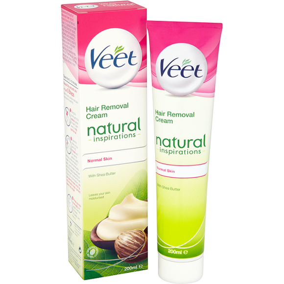 Veet - Hair Removal Cream Natural Inspirations Normal Skin with Shea Butter - 200ml - Medipharm Online - Cheap Online Pharmacy Dublin Ireland Europe Best Price