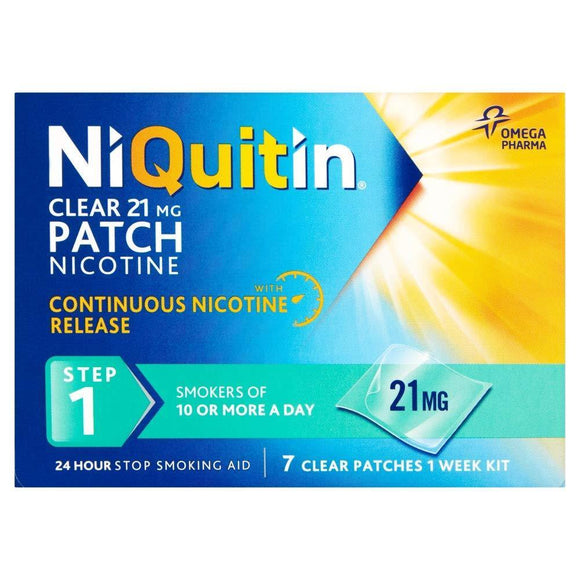 NIQUITIN Clear Step1 7 days 21MG (Patch)