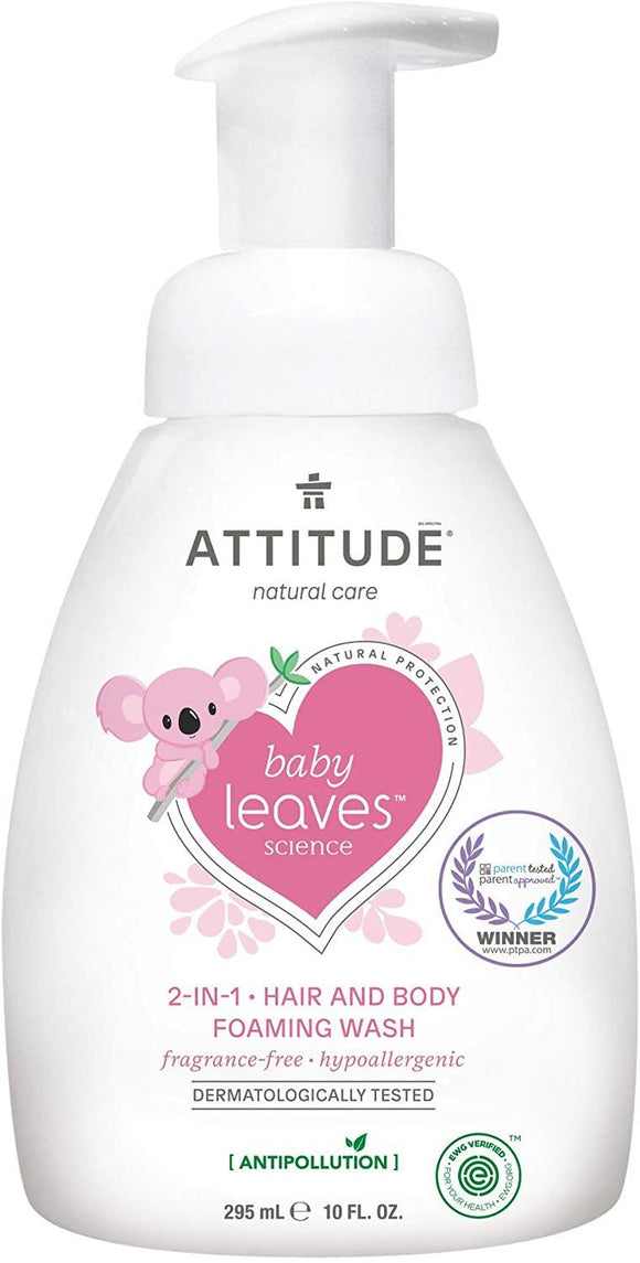 Attitude Baby Leaves 2-In-1 Hair & Body Foaming Wash 295ml