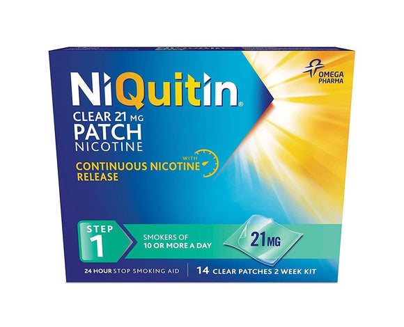 NIQUITIN Clear Step 1 14 days 21MG (Patch)