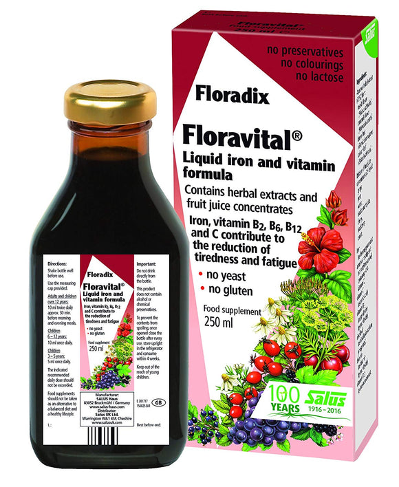 Floradix - Floravital Liquid Iron And Vitamin Formula - 250ml - Medipharm Online - Cheap Online Pharmacy Dublin Ireland Europe Best Price
