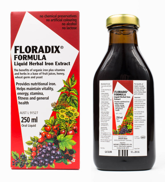 Floradix - Liquid Iron And Vitamin Formula - 250ml - Medipharm Online - Cheap Online Pharmacy Dublin Ireland Europe Best Price