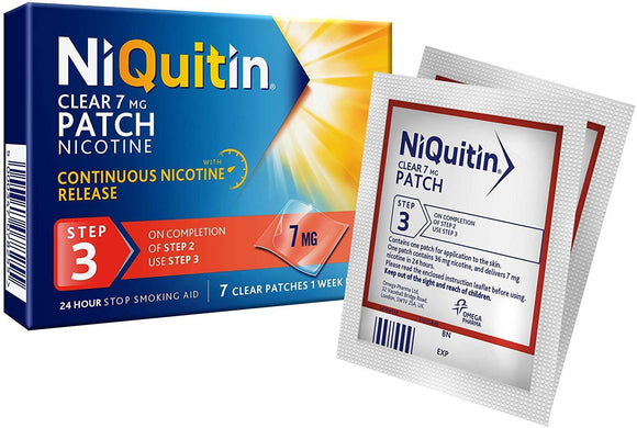 NIQUITIN Clear Step 3 7days 7MG (Patch)