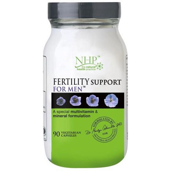 NHP Fertility Support For Men - 90 Vegetarian Capusles - Medipharm Online Pharmacy Dublin Ireland - medipharm.ie