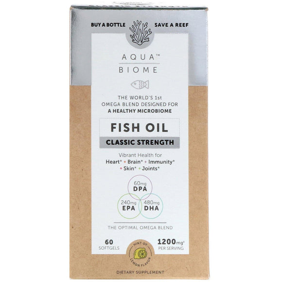 Aqua Biome Fish Oil Classic Strength 60s